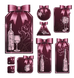 Wine tag vector