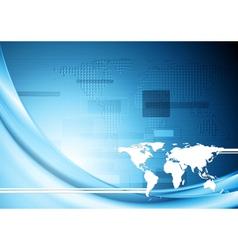 Creative blue hi-tech background vector