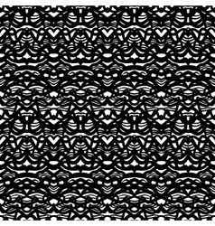 Ethnic pattern in black and white vector image