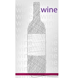 wine bottle poster vector image