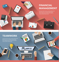 Financial menagement and teamwork concept vector