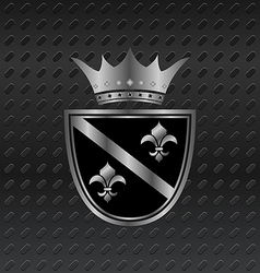 Heraldic elements on metallic background - vector