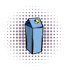 Milk or juice carton box comics icon vector
