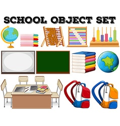 School objects and tools vector image