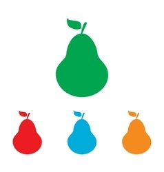 Pear sign colorfull set vector