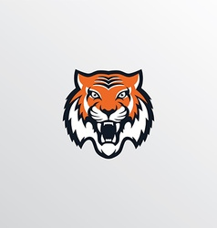 Wild tiger logotype theme vector