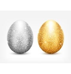 Metal egg set vector