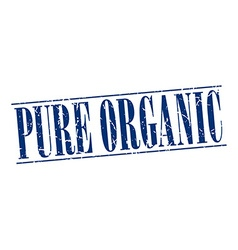 Pure organic blue grunge vintage stamp isolated on vector