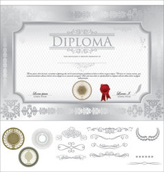 Diploma template vector image
