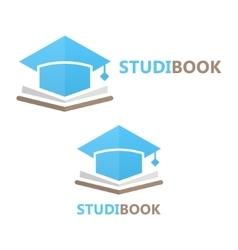 Book and student cap logo concept vector