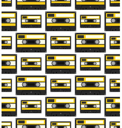 audiocassette seamless pattern vector image vector image