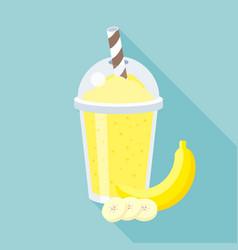 banana smoothie vector image vector image