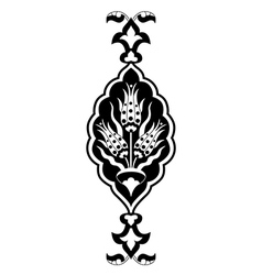 Black flowers in the ottoman art vector