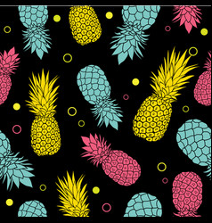 black summer colorful tropical seamless vector image
