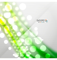 Blurred waves and lights modern background vector image