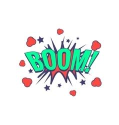 Boom Comic Speech Bubble vector image vector image