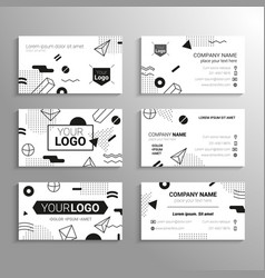 Business cards - template abstract bw vector