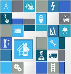 Construction infographic design vector image