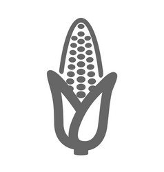 Corn outline icon vegetable vector