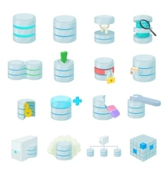 Data base icons set vector