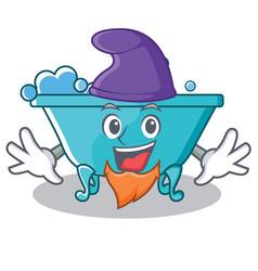 Elf bathtub character cartoon style vector