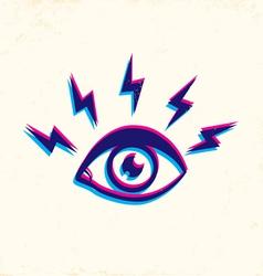 eye 3d vector image