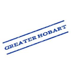 Greater hobart watermark stamp vector