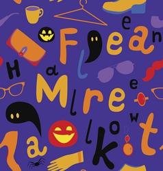 Halloween market seamless pattern vector image