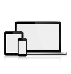 Laptoptablet and smartphone mockup vector