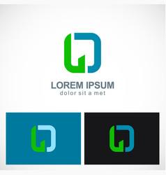 letter o shape company logo vector image