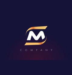 M letter logo design modern letter template vector