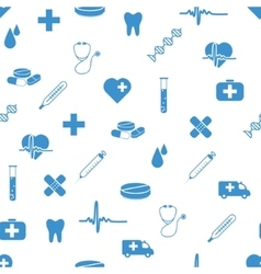medical icons seamless pattern vector image vector image