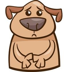 Mood sad dog cartoon vector