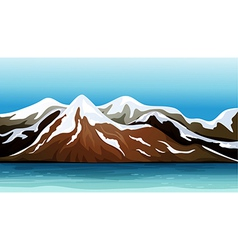 Mountain covered with snow vector image