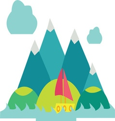 Mountain Scene vector image vector image