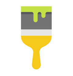 paint brush flat icon build and repair paint vector image vector image