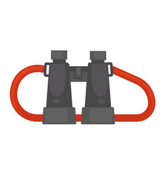 Pair of binoculars with red rope isolated vector