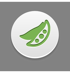Pea icon vegetable vector