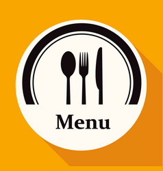 restaurant menu retro poster on white circle with vector image vector image