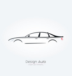 Sedan car silhouette design vector