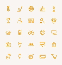 SME line icons yellow color vector image