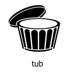 tub icon simple black style vector image