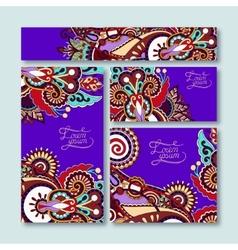 Violet colour collection of decorative floral vector