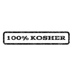 100 percent kosher watermark stamp vector