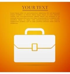 Business case flat icon on orange background vector image