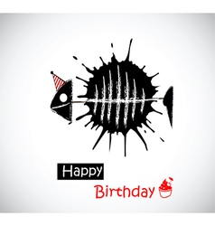 Happy birthday fish vector