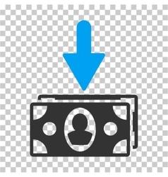Banknotes income icon vector