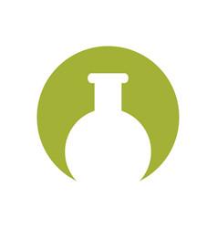 laboratory school test tube ico vector image