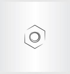 Metal nut icon symbol element vector