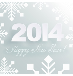 Happy new year light background vector